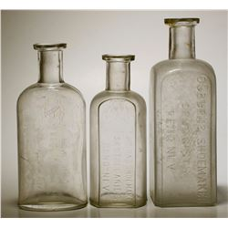 Osburn & Shoemaker Drug Bottles ( 3 Items ).