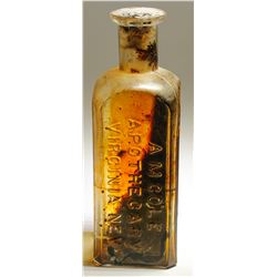 A.M. Cole Apothecary Bottle