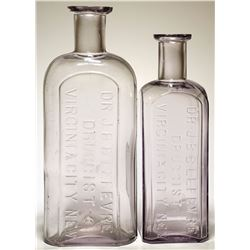 Dr. J. B. B. Lefevre Druggist Bottles ( 2 Items ).