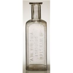M Webster Druggist Bottle