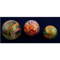 Marbles, Latticino White Core swirl & 2 Onion Skins ( 3 items ) )