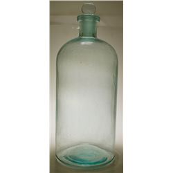 Large Chemical Storage Bottle/ Matching Stopper