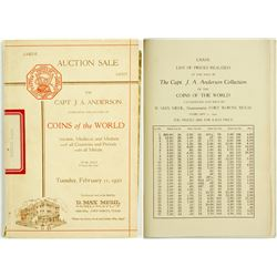 B. Max Mehl Auction Catalog