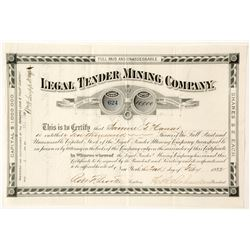 Legal Tender Mining Company Stock Certificate