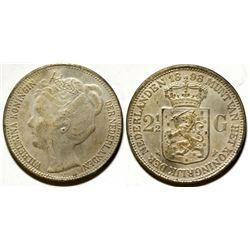 Netherlands Wilmelmina Koningin Silver Coin
