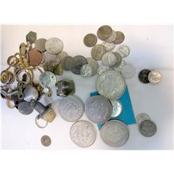 Silver Coins, Tokens and More Metal Detector Finds