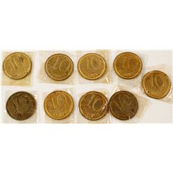 Maxwell Plantation 10 cent tokens