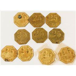 Maxwell Plantation, Tuscaloosa, 25 cent tokens