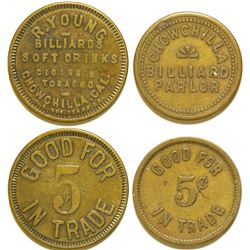 Billiard Parlor Tokens