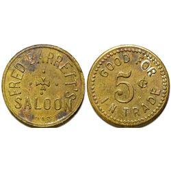 Fred Barrett's Saloon Token