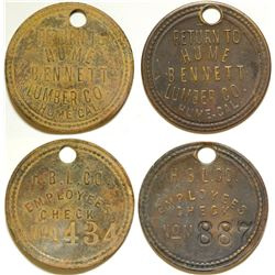 Hume Bennett Lumber Co. Employee Tokens