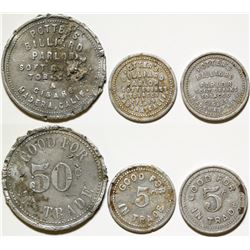 Potters Billiard Parlor Tokens