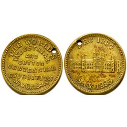 World Industrial and Cotton Exposition Medal