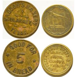 Haddon's Bakery/ Hopkins Lodge Tokens