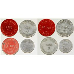 Rio Sand/Hose Wallaces Club Tokens