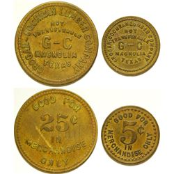 Grogan-Cochran Lumber Co. Tokens