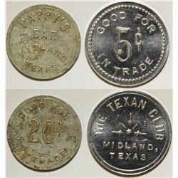 Texan Club/ Pappy's Bar Tokens