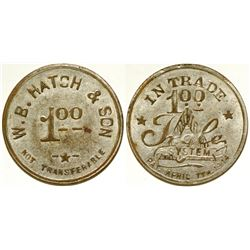 W.B. Hatch & Son Token