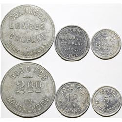 Collwood Lumber Company Tokens