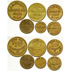 J.A. Parker Lumber Co. Tokens