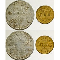E.A. Mahaffey/Jamieson Garage Tokens