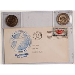 First Day Cover/Tokens First Flight of the Stratoliner