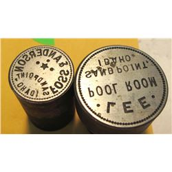 Lee Pool Room/Foos & Anderson Token Dies