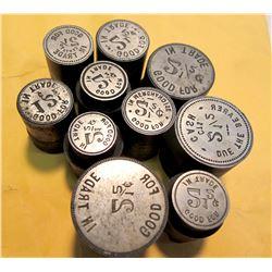 2 1/2 cent Reverse Dies