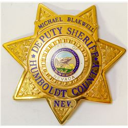 Badge from Humboldt County Nevada