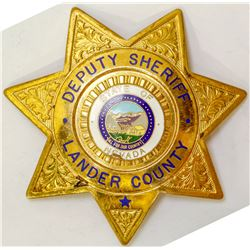 Badge from Lander County Nevada