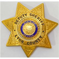 Badge from Lyon County Nevada