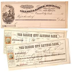 Gillson & Barber Merchants Checks (2) Bodie