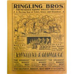 Ringling Bros Circus Flyer