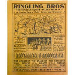 Ringling Bros Circus Flyer