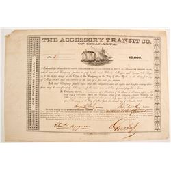 Accessory Transit Co of Nicaragua Bond, #1
