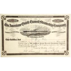 American Quick Transit Steamship Co Stock