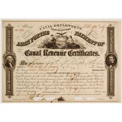 State of New York Canal Revenue Loan Certificate