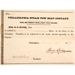 Philadelphia Steam Boat Tow Co Stock