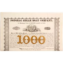 Potomac Steam Boat Co Bond