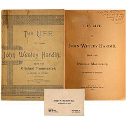 Life of John Wesley Hardin by Hardin, 1896