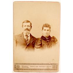 Cabinet Cards of Jesse James Jr. & Wife(?)
