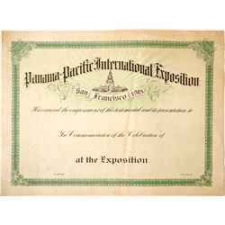 Pan Pacific Large Certificate
