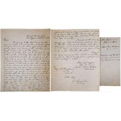 Fort Defiance Military Letter, 1858