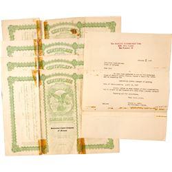Stock Certs. (4) Greenstone Copper Company of Arizona