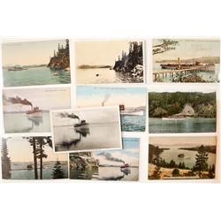 Lake Tahoe Steamer Ship Postcard Collection