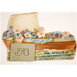1913 Calendar from Wm Heideman, CA