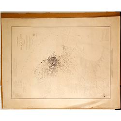 Original San Francisco, CA Engraved Map