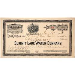 Summit Lake Water Company Stock