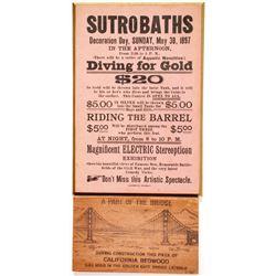 Sutro Baths/ Golden Gate Bridge Memorabilia