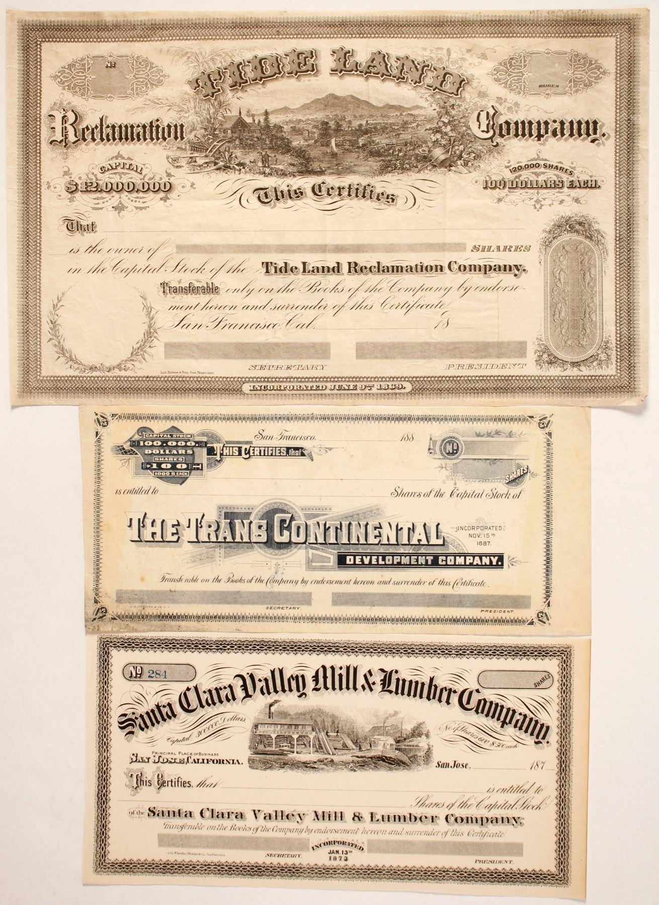 certificates francisco three area